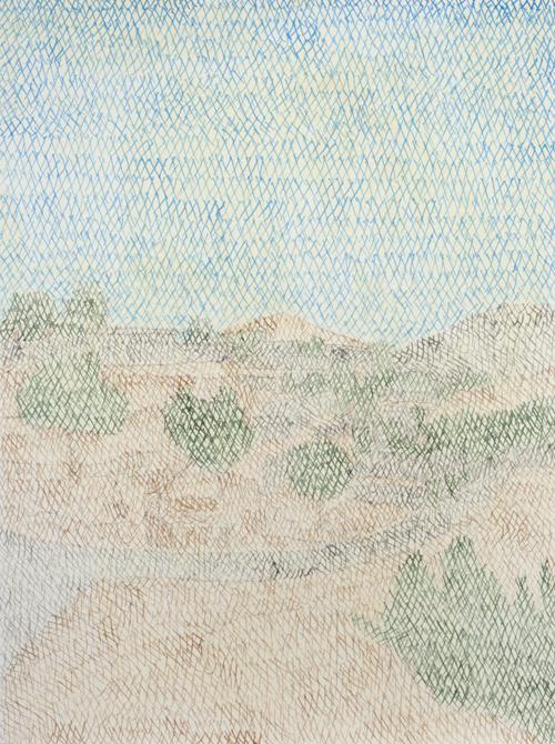 01 My lost paradise#1(Aghdjalar2010),acrylic on paper,32x23cm,2013