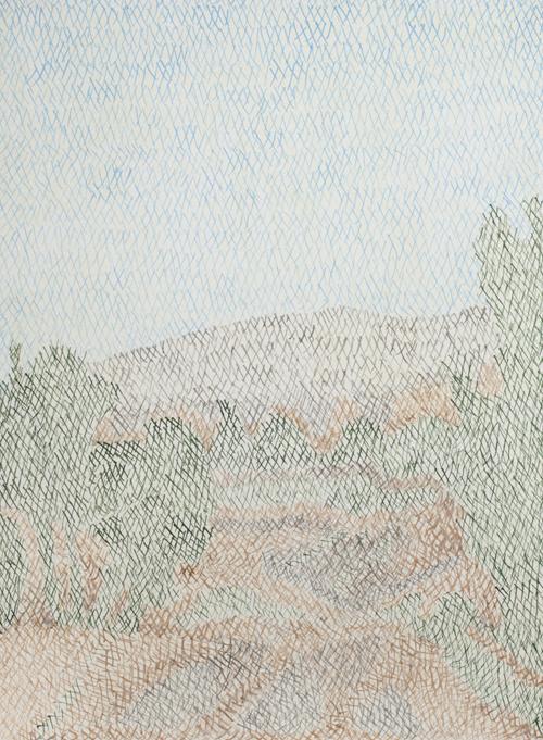 02 My lost paradise#2(Qasisaka2010),acrylic on paper,32x23cm,2013
