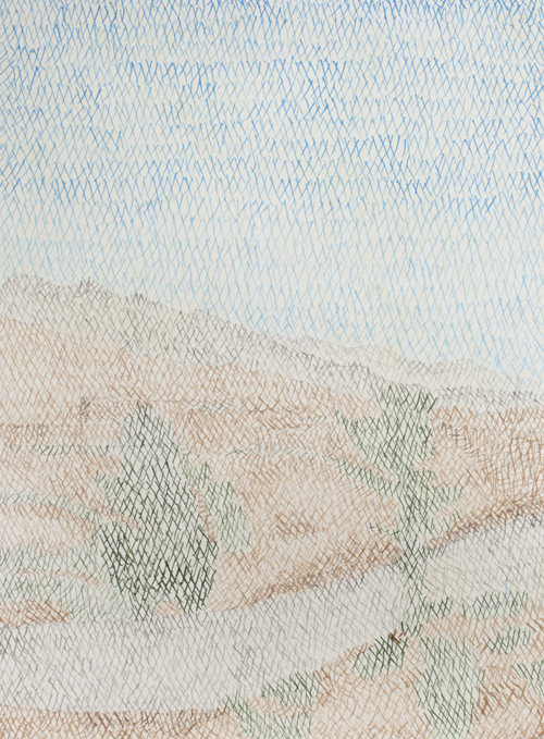 03 My lost paradise#3(Girdaka2010),acrylic on paper,32 x 23cm,2013