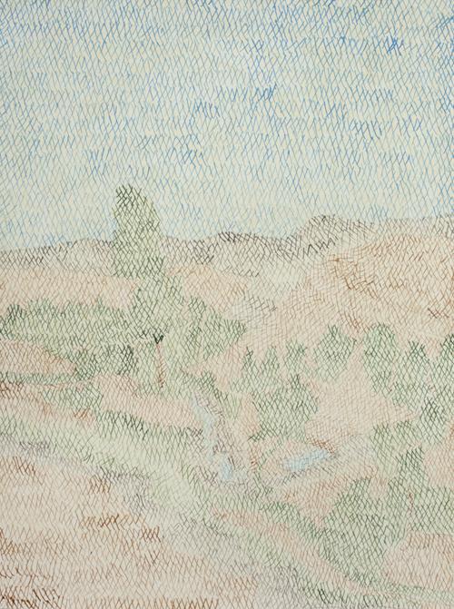 04 My lost paradise#4(Zaitoonak2010),acrylic on paper,32 x 23cm,2013