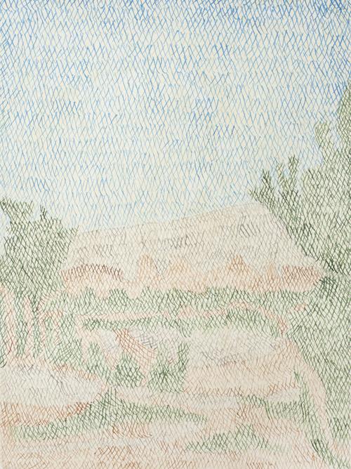 05 My lost paradise#5(Qasisaka2010),acrylic on paper,32 x 23cm,2013