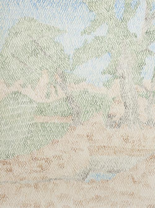 06 My lost paradise#6(Zaitoonaka2010),acrylic on paper,32 x 23cm,2013
